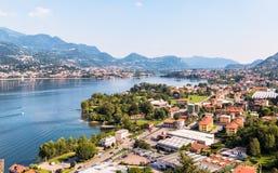 Озеро Garlate, расположено в провинции Lecco стоковая фотография