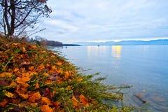 озеро geneva рассвета Стоковая Фотография