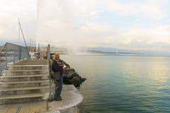озеро geneva Стоковые Фото