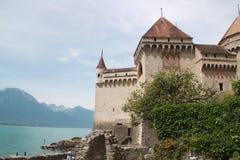 озеро geneva chillon замока Стоковые Фото
