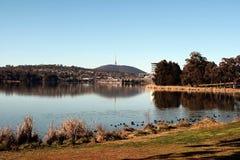 Озеро Ginninderra Belconnen Канберра Австралия стоковая фотография rf