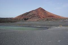 Озеро golfo El, Лансароте, острова canaria Стоковая Фотография