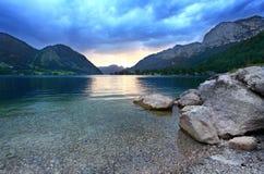 озеро grundlsee стоковая фотография rf