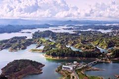 Озеро Guatape, Колумбия Стоковая Фотография RF