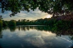 Озеро Guildford во время вечера лета Стоковое Фото
