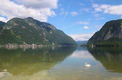 Озеро Hallstatt, Австрия Стоковые Изображения RF