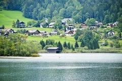Озеро Hallstatter, Австрия Стоковая Фотография RF