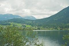 Озеро Hallstatter, Австрия Стоковое фото RF