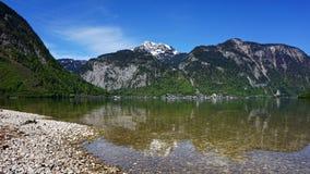 Озеро Hallstattersee в Австрии Стоковое Изображение RF