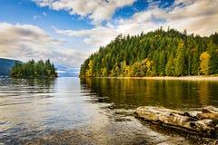 Озеро Harrison и горячие источники Harrison, Британская Колумбия, Ca Стоковые Изображения RF