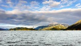 Озеро Harrison и остров отголоска Стоковые Изображения