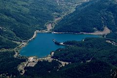 Озеро Heartlike Стоковая Фотография RF