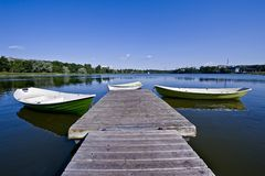 озеро helsinki города центра Стоковое Изображение