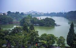 Озеро Hoan Kiem стоковые изображения rf