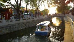 Озеро Houhai Beihai Стоковое фото RF
