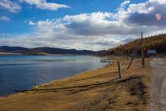 Озеро Hovsgol в Монголии Стоковые Изображения