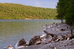 Озеро Hovsgol, Монголия Стоковые Изображения RF