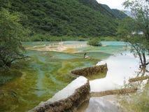 озеро huanglong стоковые фото