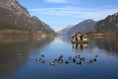 Озеро Idro Стоковые Изображения RF
