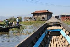 Озеро Inle в Мьянме Стоковое Изображение
