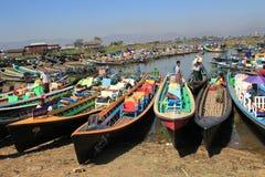 Озеро Inle в Мьянме Стоковая Фотография RF