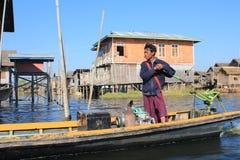 Озеро Inle в Мьянме Стоковые Фото