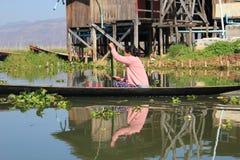 Озеро Inle в Мьянме Стоковое Изображение RF