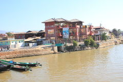 Озеро Inle в Мьянме Стоковые Изображения RF