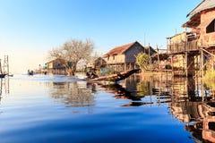 Озеро Inle в положениях Шани Стоковое Фото