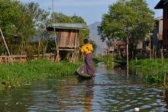 Озеро Inle, положение Шани, Мьянма стоковое изображение rf