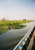озеро inle шлюпки Стоковая Фотография