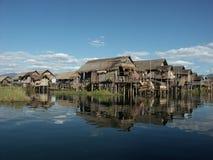 озеро inle стоковые изображения rf