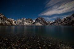 Озеро Iskanderkul зимы, горы Fann, Таджикистан Стоковые Фото