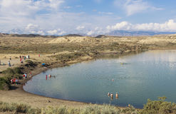 Озеро Issyk Kul в Кыргызстане Стоковая Фотография RF