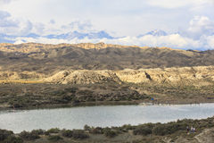 Озеро Issyk Kul в Кыргызстане Стоковая Фотография