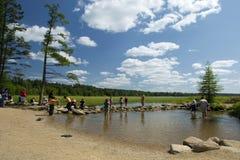 Озеро Itasca и источник реки Миссисипи стоковое фото rf