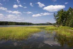 Озеро Itasca, северная Минесота, США. стоковая фотография