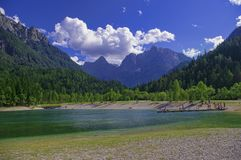 Озеро Jasna, национальный парк Triglav, Словения Стоковые Изображения RF