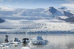озеро jokulsarlon Исландии Стоковое Изображение