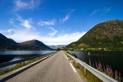 Озеро Jolstravatnet в южной Норвегии Стоковое Изображение RF