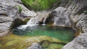 Озеро Kara-Gaulle молодост ванны, гранд-каньон Крыма видеоматериал