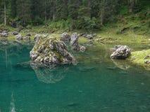 Озеро Karer, доломиты, Италия Стоковое Изображение