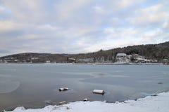 Озеро Kawaguchiko Стоковое Изображение RF