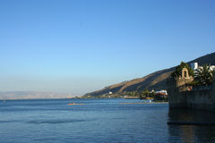Озеро Kineret, море Galillee, Тивериада, Израиль Стоковые Фото