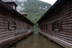 Озеро Koenigssee, Бавария, Германия Стоковое Изображение RF