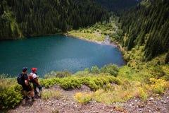 озеро kolsai kazakhstan стоковое фото