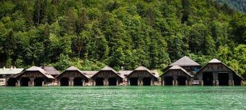 Озеро Koningssee в немце Альпах Стоковая Фотография