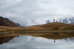 Озеро Koruld гор, Samegrelo-zemo Svaneti, Georgia стоковое изображение