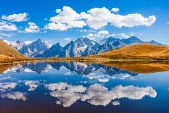 Озеро Koruldi, Svaneti Стоковое фото RF