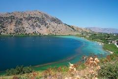 озеро kournas Крита Стоковые Фотографии RF
